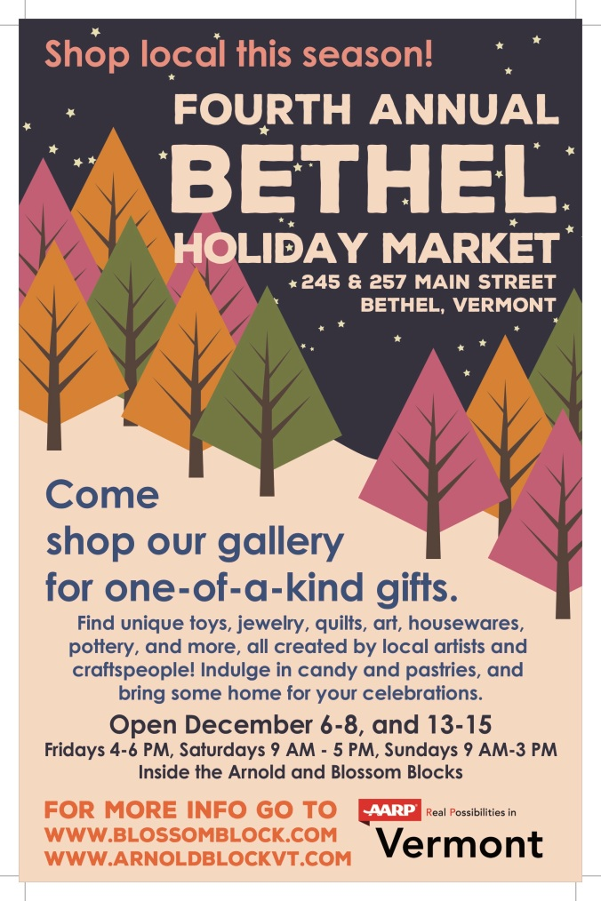 Bethel Holiday PopUp POSTER Perky Pines 2019